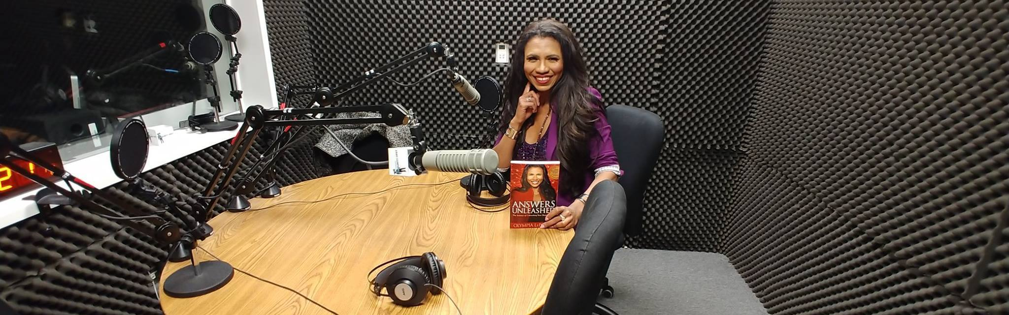 Olympia LePoint - Answers Unleashed Talk Show in the studio